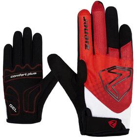 Ziener Colja Long Bike Gloves Kids, czerwony